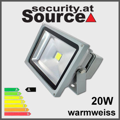 20W LED Strahler Fluter warmweiss